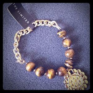 The Limited Tiger Eye goldtone bracelet